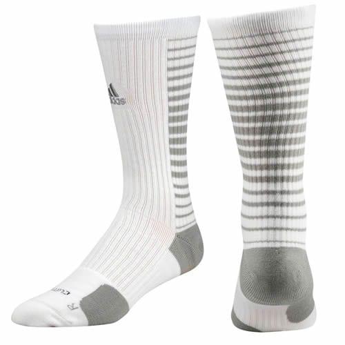 c3cb5958d Adidas Team Speed Vertical Basketball Crew Socks (White/Aluminum ...
